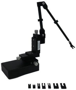 Showcase the controls of the PPM203B and the Textronix probe mounts/adapters